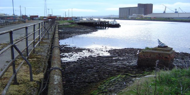 Storm water outfall into estuary